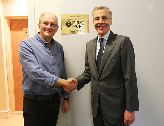 Tony Ferrier, Emmaus Hertfordshire Community CEO, and FirstPort CEO, Nigel Howell.