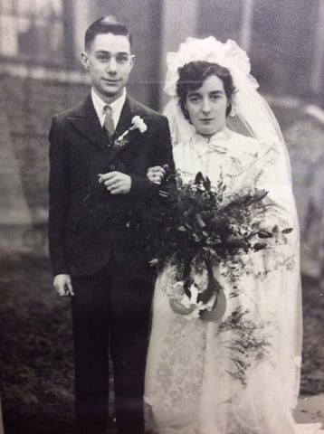 John and Kathleen Milward on their wedding day in 1944