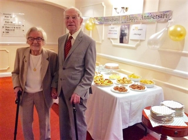 John and Kathleen Milward celebrating their anniversary at Canberra Court